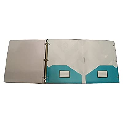 Studio C Carolina Pad Snap Tab Two Pocket Poly Folder ~ Hot to Trot (White and Black Chevron, Teal Edge): Toys & Games