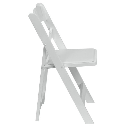 Amazon.com: Flash Furniture HERCULES Series White Wood Folding Chair With  Vinyl Padded Seat: Kitchen U0026 Dining