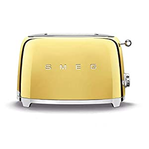 Smeg Limited Edition Retro Style Aesthetic 2 Slice Toaster (Gold)