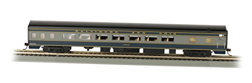Bachmann Industries B&O Smooth-Side Coach Car with Lighted Interior (HO Scale), 85'