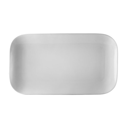 Oxford Bone China - CAC China OXF-C12 Oxford Porcelain Coupe Rectangular Platter (Box of 24), 10