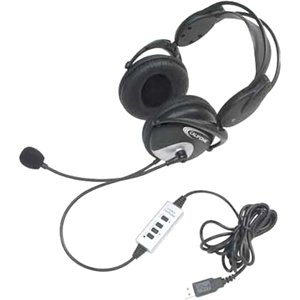 Califone 4100USB Stereo Heaset w/USB, Black
