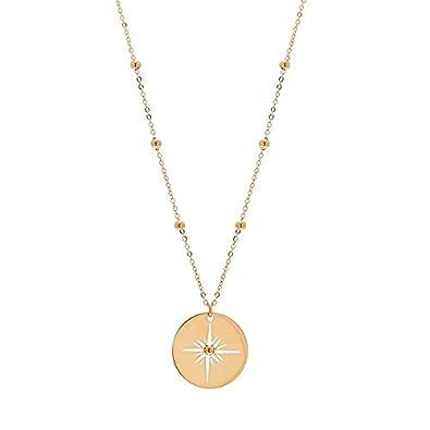 livraison rapide meilleure vente magasin officiel Zag Bijoux Collier médaille étoile ajourée (doré)