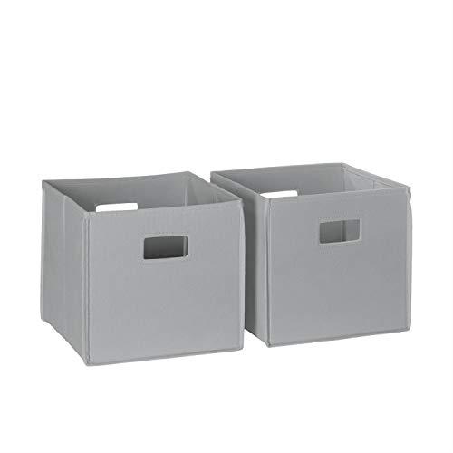 RiverRidge 02-058 2-Piece Folding Storage Bin, Gray ()