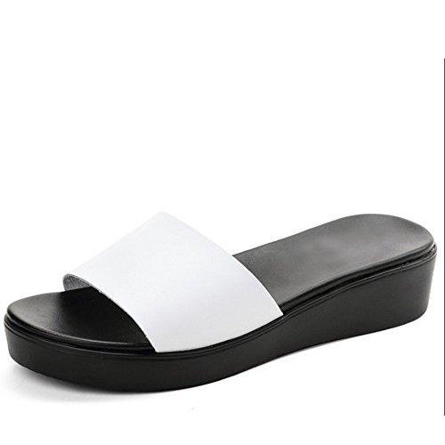 piane di Pantofole formato opzionali A facoltativo del portano del raffreddamento colori A della spiaggia dispositivo estate di 2 Colore cuoio pantofole modo femminile dimension di i Pantofole qpO6Ex1