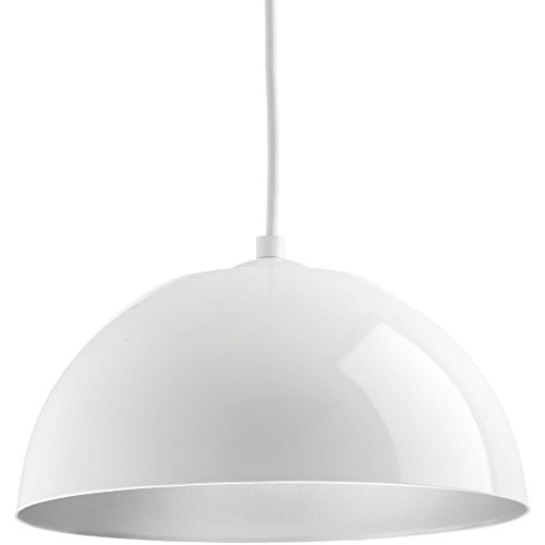 Advance Lighting P5340-3030K9 Dome One-Light Pendant with Hal Ac LED Module, White