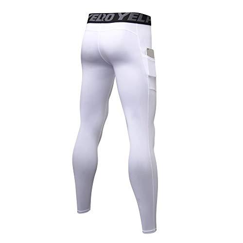 Séchage Homme Pour Pantalons White Leggings Legging Course De aa Hommes Compression Vêtements Collants Sport Itisme Rapide wTBqd7q