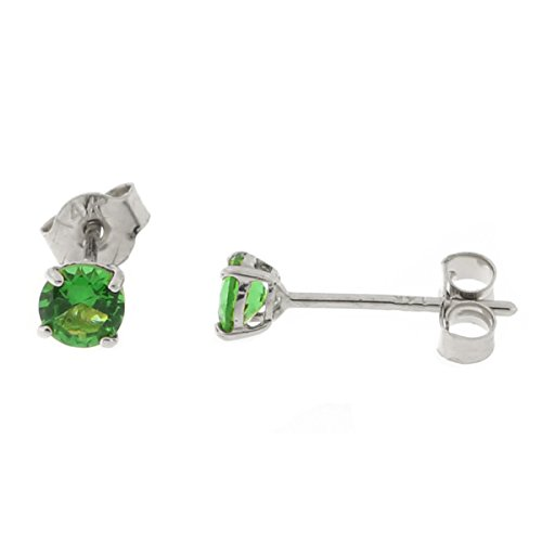 14k-Yellow-or-White-Gold-Round-Basket-Set-Simulated-Emerald-Earrings
