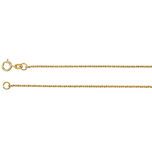 (14K Yellow Gold 1mm Twisted Wheat 7