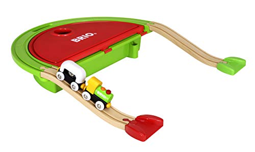 BRIO World - 33711 My First Take Along Set | 7 Piece Train Toy with Accessories and Wooden Tracks for Kids Ages 18 Months and Up