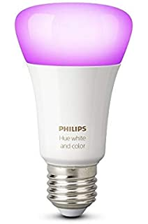 Philips Hue White and Color Ambiance - Bombilla LED E27 individual, 9,5 W