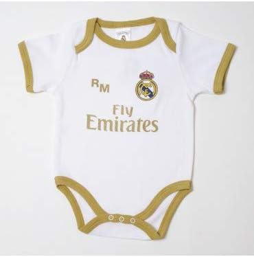 10XDIEZ Body Bebe Real Madrid 813 BCO-Ocre - Tallas bebé - 6 Meses ...