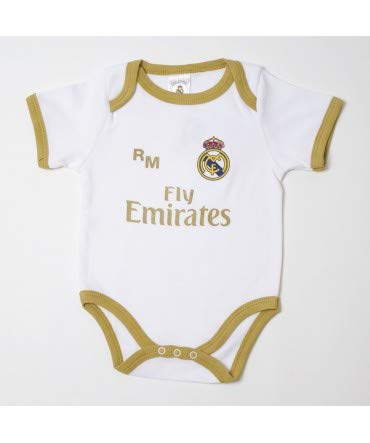10XDIEZ Body bebe real madrid 813 bco-ocre