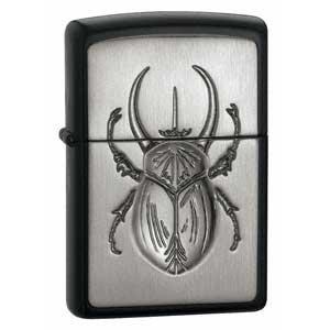 Zippo - Licorice Matte, Scarab Emblem