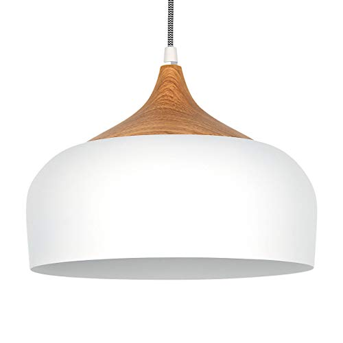 tomons Pendant Lamp White LED Ceiling Lamp Scandinavian Modern Simple Style for Living Room Dining Room Restaurant (White Pendant Ceiling)