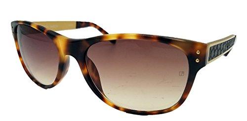 Linda Farrow Luxe 'Genuine Aubergine Snake' and Acetate - The Sale Row Sunglasses