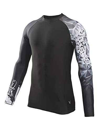HUGE SPORTS Wildling Series UV Protection Quick Dry Compression Rash Guard(Jaguar,M)