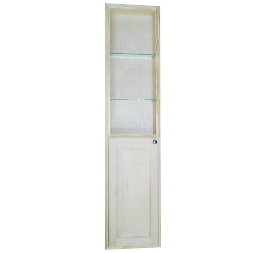 WG Wood Products Recessed Manhattan Pantry Storage Cabinet with 36'' Shelf & 3.5'' Deep, 66'', Unfinished by WG WOOD GROUP
