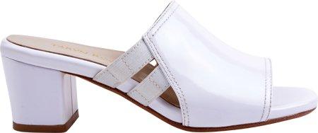 Taryn Rose Kvinnor Rimba Glid Sandal Vit Lackläder