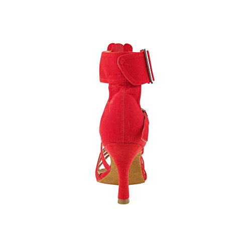 Shoes 7026 Party Shoes Dance Evening Standard Ballroom Red Dress Comfort Smooth Tango Women Velvet Pump Collections Wedding Heel Medium Velvet Party U7PUxw8