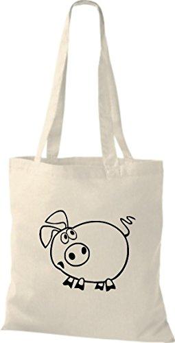 Shirtstown Stoffbeutel Tiere Schwein Sau Ferkel Natur csP1Y