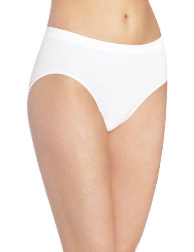 Mesh High Cut Brief - Bali Women's Comfort Revolution Hipster Panty, White, 6/7