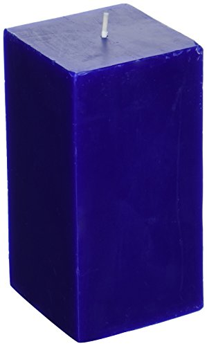 Zest Candle Pillar Candle, 3 by 6-Inch, Blue Square (Pillar Square Candle)