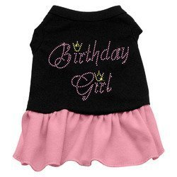Mirage Pet Birthday Girl Rhinestone Dresses Black with Pink XXXL (20) by Mirage Pet