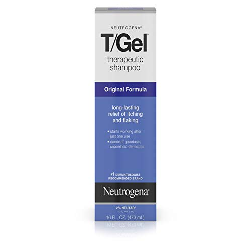 Neutrogena T/Gel Therapeutic Shampoo Original Formula, Anti-Dandruff Treatment for Long-Lasting Relief of Itching and Flaking Scalp as a Result of Psoriasis and Seborrheic Dermatitis, 16 fl. oz (Best Drugstore Acne Products)