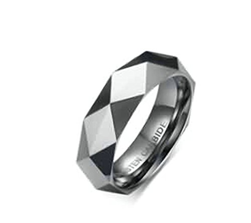 Black Box Wine Halloween Costume (KnSam Women Wedding Bands Stainless Steel Rhombus Silver Size 8)