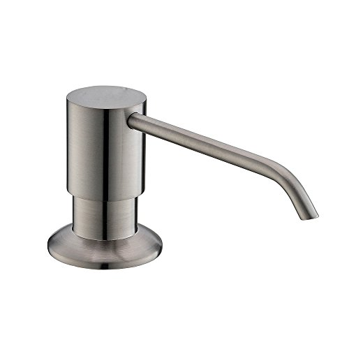 VAPSINT Modern Commercial Brushed Nickel Liquid Built In Deck Mount Soap Dispenser Pump, For Kitchen Sink Faucet by VAPSINT