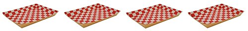 "3104dfMEVRL - Southern Champion Tray 0590 Kraft Paperboard Red Checkerboard Interior Nested Lunch Tray, 10-1/2"" Length x 7-1/2"" Width x 1-1/2"" Height (Case of 250) (4-(Case of 250))"