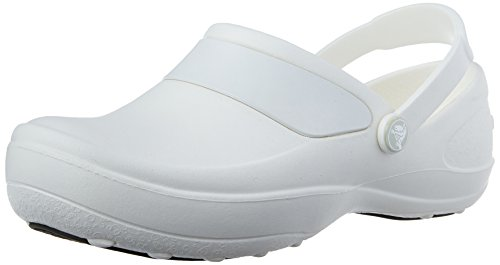 (crocs Women's Mercy Work Clog,White/White,8 M US)