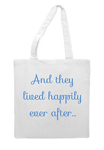 Bag Lived Engagement Any Tote Gift Shopper Party Wedding Happily After They White Ever fqS1vq