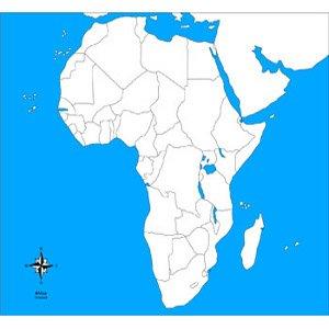 Cartina Muta Africa.Montessori Nuova Carta Geografica Dell Africa Muta Geografia