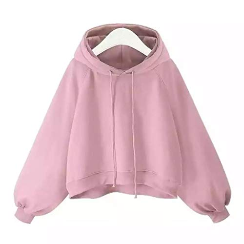 Dünne Rosa Lose Lantern TianWlio Frauen Kapuzen Frauen Bluse Langarm Sweater Damen by Hoodie Sleeve qwzZwC