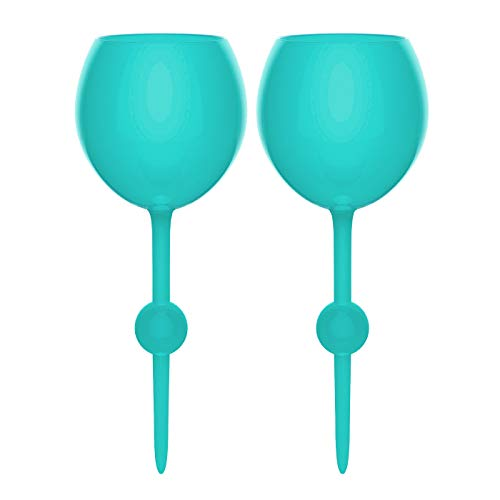 The Beach Glass Teal Tides 2 Pack - Original Floating, Acrylic and Shatterproof Wine, Beer, Cocktail, Drinking Glasses for Pool, Beach, Camping and Outdoor Use - 12 Ounce (Teal Tides, - Acrylic Wedding Beach
