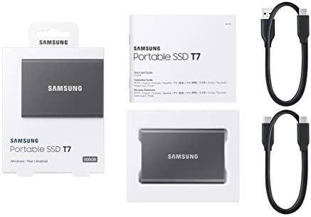 SAMSUNG T7 Portable SSD 1TB - Up to 1050MB/s - USB 3.2 External Solid State  Drive, Gray (MU-PC1T0T/AM): External Data Storage: Amazon.com.au