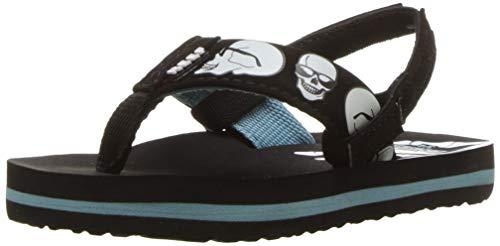 (Reef Boys AHI Color Change Sandal, Blue Skulls, 11-12 Medium US Little Kid)