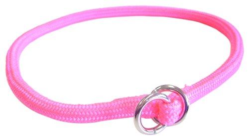 Hamilton 5/16 Inch x 20 Inch Round Braided Choke Nylon Dog Collar, Hot Pink (829 HP) ()