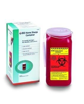 BD Home Sharps Container - 1.4 qt - 1 case (12 Each)
