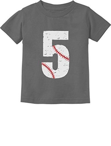 TeeStars - Baseball 5th Birthday Gift for Five Year old Toddler Kids T-Shirt 5/6 Dark Gray
