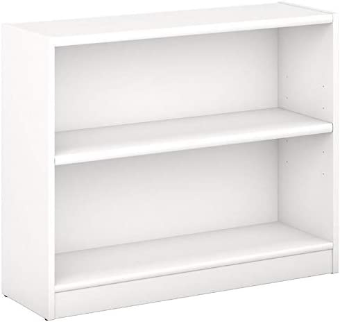 Pemberly Row 2 Shelf Bookcase in Pure White