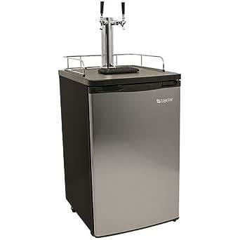 EdgeStar Full Size Stainless Steel Dual Tap Kegerator & Draft Beer Dispenser - Stainless Steel