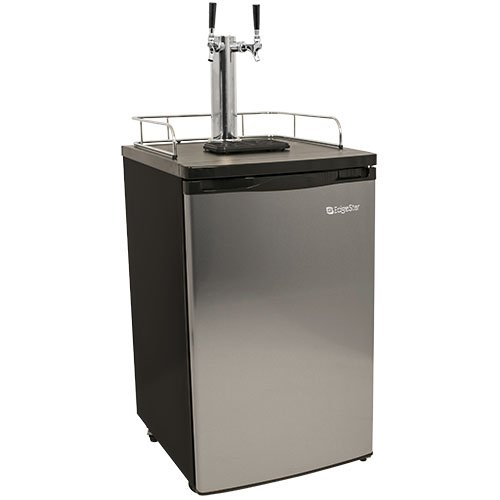 EdgeStar Full Size Stainless Steel Dual Tap Kegerator & Draft Beer Dispenser - Stainless Steel (Kegerator Kit Dual Tap compare prices)