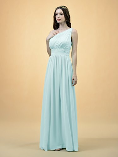 6c1b48da5 Alicepub One Shoulder Bridesmaid Dress for Women Long Evening Party Gown  Maxi at Amazon Women's Clothing store: