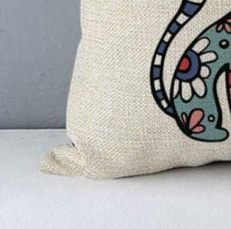 Sofa pillow45cm Cushion Cat Printed Cotton Linen Home Decorative Pillows Bedroom Decor Pillowcase