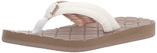New White Sandals Pvc Women (Reef Women's Dreams II Sandal, White/Mocha, 5 M US)