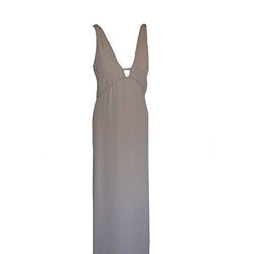 (BCBGMaxazria Beige Laser Cut Dress)