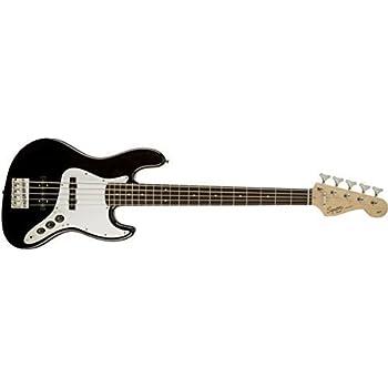 Squier by Fender Affinity Jazz V String Beginner Electric Bass Guitar - Rosewood Fingerboard Black